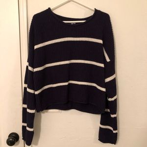 Cropped Striped Sweater